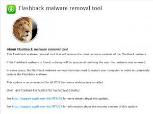 1.Flashback Malware Removal Tool